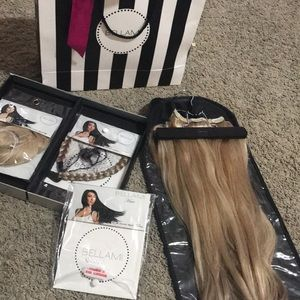 Bellami khalessi clip in hair extensions.